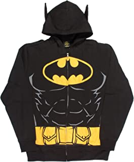 DC Comics Batman Hooded Caped Belt Costume Hoodie