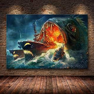 H/H World Warships Beau Anime Art HD Affiche Décoration De La Maison Peinture Mode Bar Café Toile Art Peinture À l'huile s...