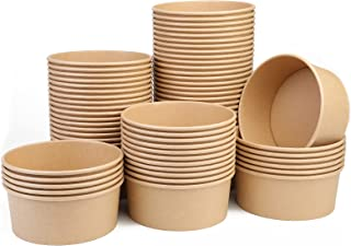 1100ML Paper Salad Containers , Paper Soup Containers , Paper Food Cups for Hot/Cold Food, Paper Soup Containers for Party...