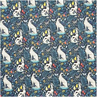 Blue Whimsical Print 'Catherine Rowe' Liberty Lawn Cotton Handkerchief