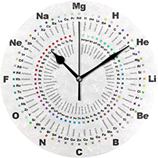 MIKA 置き時計 掛け置き両用 卓上 時計 おしゃれ 壁掛け時計 モダン アート インテリア ウォールクロック 壁時計 新生活 置時計・掛け時計 周期表化学時計 完了