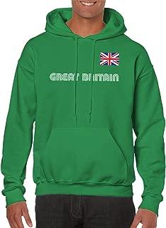 Great Britain Soccer Jersey Hooded Sweatshirt