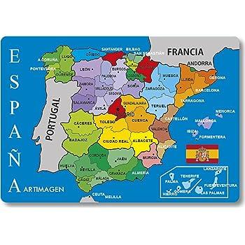 Artimagen Imán Mapa Provincias España 80x55 mm.: Amazon.es