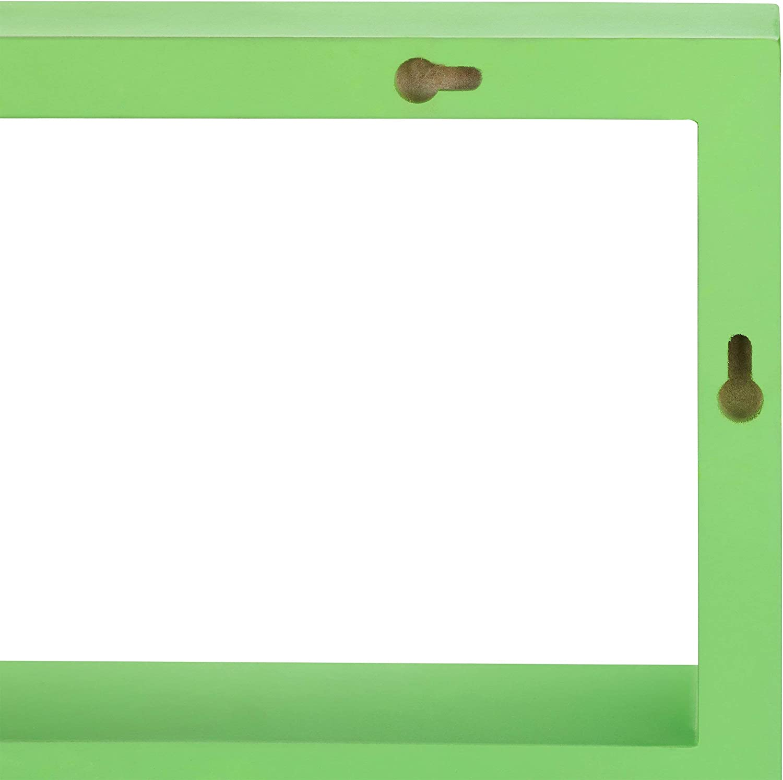 H/ängeregal f/ür Kinder schmal schwebendes Regal Holz HxBxT: 30,5x61x7,5cm MDF Relaxdays Wandregal schwebend blau