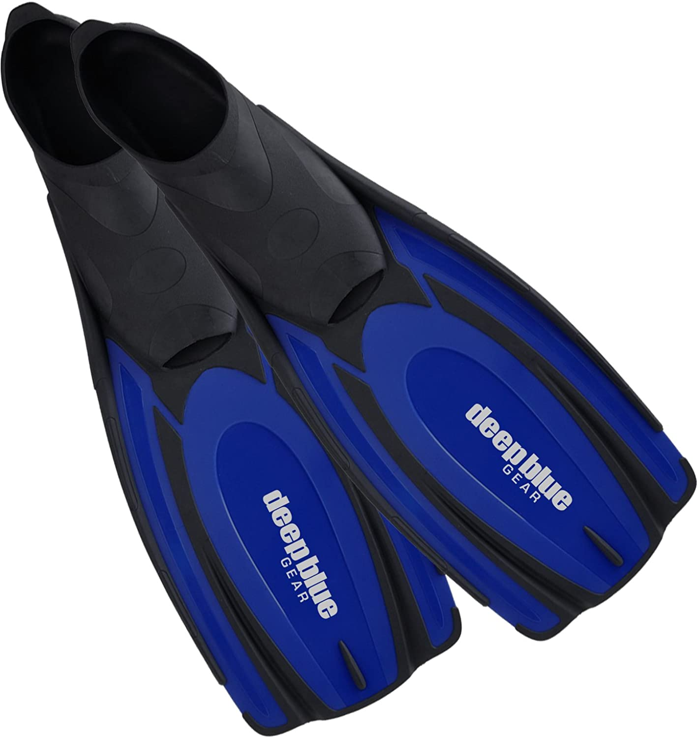 Deep blueee Gear Latitude 2 Fins for Diving, Snorkeling, and Swim