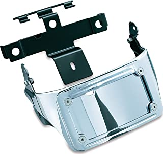 Kuryakyn 9258 Motorcycle Accent Accessory: Sub-Fender License Plate Bracket with LED Curved Frame & Turn Signal Mount for 2008-17 Yamaha Raider Motorcycles, Chrome