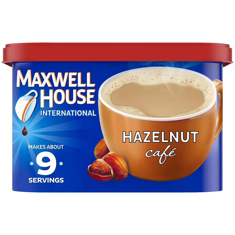 Maxwell House International Hazelnut Cafe-Style Beverage Mix, 9 oz Canister