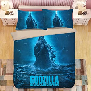 Tghd86 Znn God-Zilla Twin/Full/Queen/King Comforter Set with Pillow Sham and Duvet Cover Bedding 3 Pieces