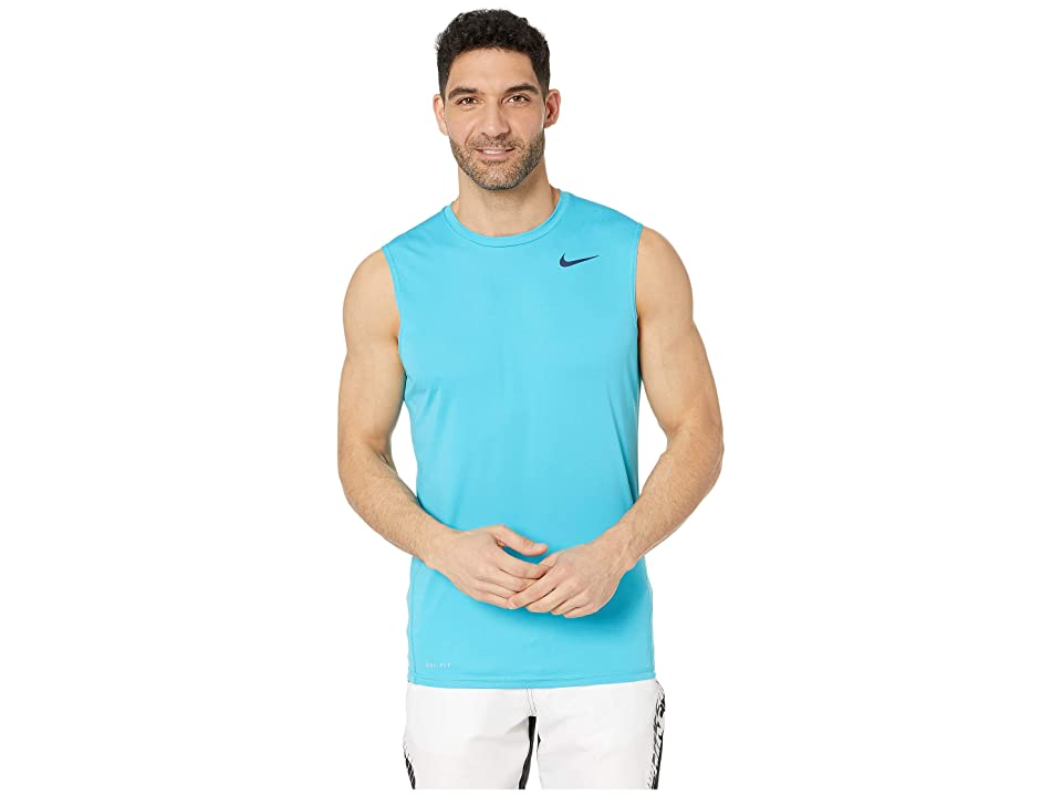 Nike Solid Sleeveless Hydroguard (Light Blue Fury) Men