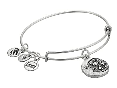 Alex and Ani Moon Tarot Charm Bangle (Rafaelian Silver) Bracelet