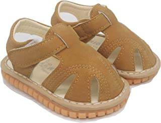 LUWU Toddler Squeaky Shoes with Rubber Sole First Walker Sandals