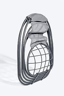 Mercury - Silla colgante de balancín – The Angles' Wings – Sillón de lactancia con cojín suave para interior y exterior (Gray Hanging Chair)
