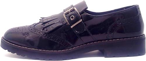IGI & CO 48340 zapatos mujer negro luciendo elegante pintura franja derbi
