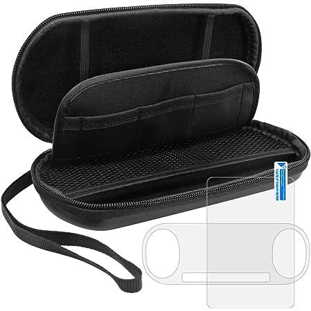 Custodia protettiva per Sony PlayStation Vita 2000 con protezioni dello schermo, AFUNTA 2 Pz vetro temperato, con 1 Traveling trasporto EVA Case for PS Vita PSV Accessori Console