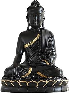 Luckyw Stor harts Buddha-staty fred skulptur hem kök dekoration prydnad