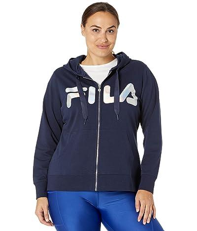 Fila Plus Size Curve Full Zip Hoodie