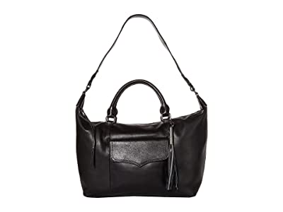 The Sak Sierra Leather Convertible Satchel (Black) Handbags