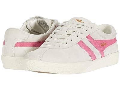 Gola Trainer Suede (Off-White/Fluro Pink) Women