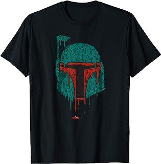 Star Wars Boba Fett Grime Slime Dripping Paint Art T-Shirt
