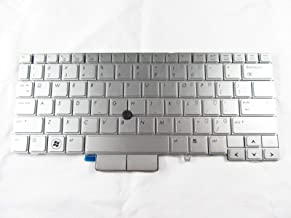 KinFor Product, Keyboard for HP Elitebook 2760p Silver Keyboard MP-09B63US64421 US + Clear Protector Cover