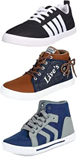 ETHICS Perfect Combo Pack of 3 Sneaker Shoes for Men