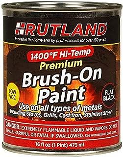 Rutland Premium 1400 Degree F Hi-Temp Brush-On Paint, 16 fl oz, Black