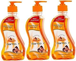 santoor hand wash orange for smooth hands Bottle(3 x 215 ml)