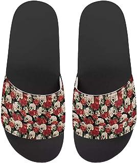 صندل للنساء من FOR U DESIGNS صندل صيفي حذاء منزلي للاستخدام في الأماكن المغلقة وفي الهواء الطلق وشباشب مضادة للانزلاق