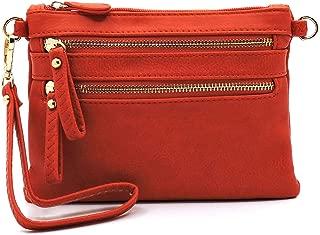 Janin Handbag Crossbody Bag with Front Double Zipper Compartment