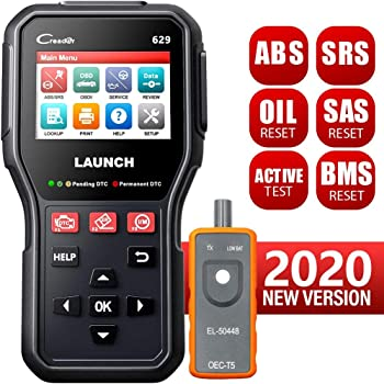 LAUNCH CR629 Scan Tool ABS SRS OBD2 Scanner Car Code Reader with Active Test, Oil/SAS/BMS Reset, Full OBD2 Functions, PC Printing Lifetime Free Update Diagnostic Tool for DIYers, EL-50448 Tool as Gift