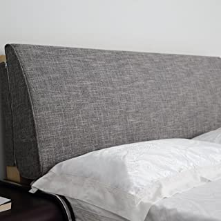 VERCART Large Filled Headboard Sponge Upholstery Bedside Backrest Support Wedge Reading Pillow Cushion with Removable and Washable Cover Grey 59x4x19inch