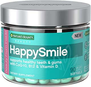 Nature's Bounty HappySmile Beauty Multivitamins, with Vitamin D, CoQ10, and Vitamin B12, for Support of Healthy Teeth and Gums*, 90 Softgels
