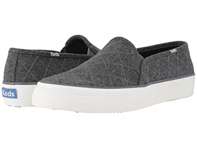 Keds Double Decker Quilt (Charcoal Quilted Jersey) Women