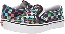 (Iridescent Check) Black/True White