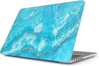 BURGA Hard Case Cover Compatible with MacBook Pro 15 Inch Case Release 2012-2015, Model: A1398 Retina Display NO CD-ROM Sky Blue Teal Marble Turquoise Azure Ocean for Girls Sea Waves Bright Stone