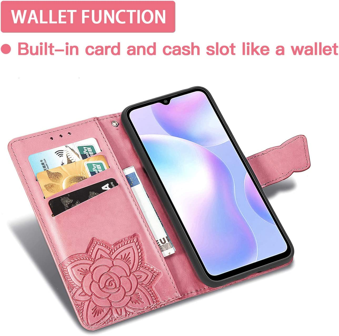 Premium 3D Butterfly Phone Shell Gray TANYO Flip Folio Case for OPPO Realme 7 5G Not for 4G Version PU//TPU Leather Wallet Cover with Cash /& Card Slots