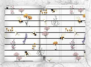 White Striped Summer Wild Flowers Case For Apple iPad Mini 1 2 3 4 5 iPad Air 2 3 iPad Pro 9.7 10.5 11 12.9 inch iPad 9.7 inch 2017 2018 2019