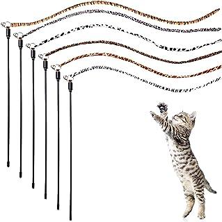 Libima Jungle Cat Wand Cat Teaser Toy Interactive Cat Stick Toy Cat String Toy Kitten Catcher Wand with Bells Jungle Cat T...