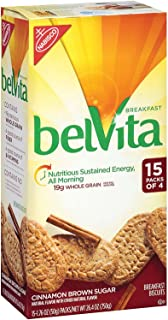 Belvita Cinnamon Brown Sugar Breakfast Biscuits (15 Pk. 4 Ct.) - SCS