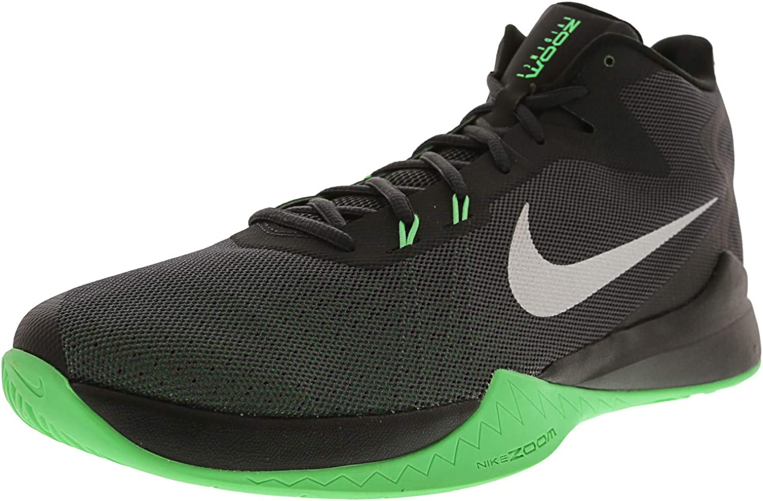 Nike Men's Zoom Evidence Basketball shoes, Anthracite Metallic Silver Black, 11.5 D US