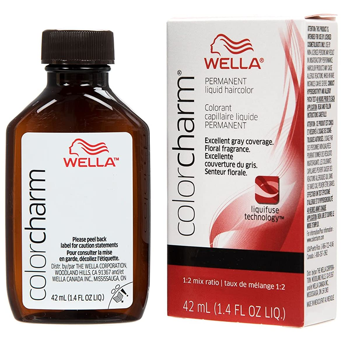 散歩に行く性的覆すWella チャーム液体パーマネントヘアカラー、 1.4オンス 8rg / 729ティツィアーノレッドブロンド