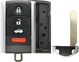 KeylessOption Smart Keyless Remote Shell Pad Case Key Fob Replacement For M3N5WY8145