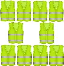 Pomisty Gilet Jaune R/éfl/échissant Gilet de S/écurit/é Haute Visibilit/é pour Hommes et Femmes Taille Standard Gilets de S/écurit/é 5 pi/èces