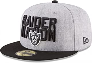 New Era Authentic Raiders Heather Gray/Black 2018 NFL Draft Official On-Stage 59FIFTY Fitted Hat