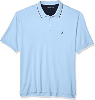 Men's Big and Tall Classic Fit Short Sleeve Solid Tipped...