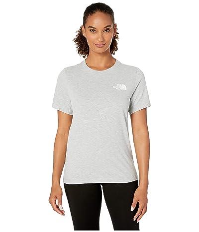 The North Face Short Sleeve Red Box T-Shirt (TNF Light Grey Heather/Asphalt Grey) Women