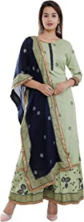 A UNIQUE Womens Beautiful Printed Kurta Palazzo & Dupatta Set