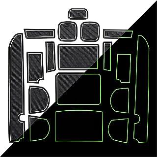 HAZYJT Porte Slot Cup Pad Accessoires Intérieurs Tapis De Porte Tapis Antidérapant Compatible avec Ni-ssan Navara D40 200...