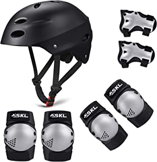 scooter para ni/ños aeropatines mu/ñequeras Casco para bicicleta BMX coderas rodilleras