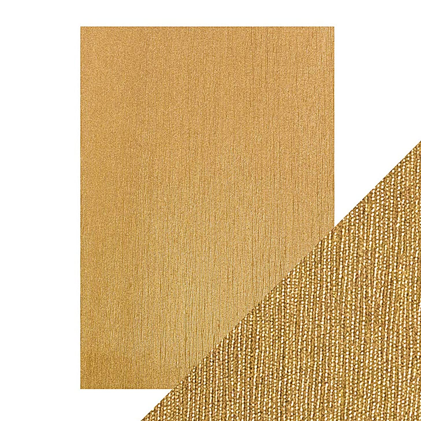 Craft Perfect Luxury Embossed A4 Cardstock 5/Pkg-Cinnamon Silk